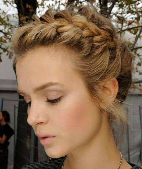 side braided updos for waitress