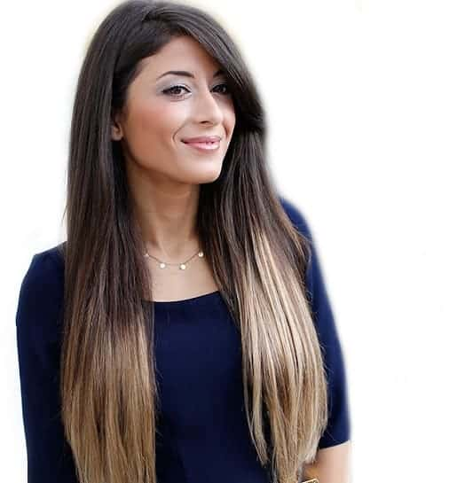 two tone long weave hairstyle